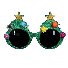 Load image into Gallery viewer, Green Glitter Xmas Glasses