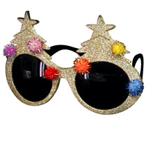 Load image into Gallery viewer, Christmas Tree Novelty Glitter Sunglasses