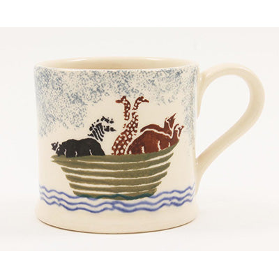 Noah's Ark, Childs Mug 150ml Spongeware - La Di Da Interiors
