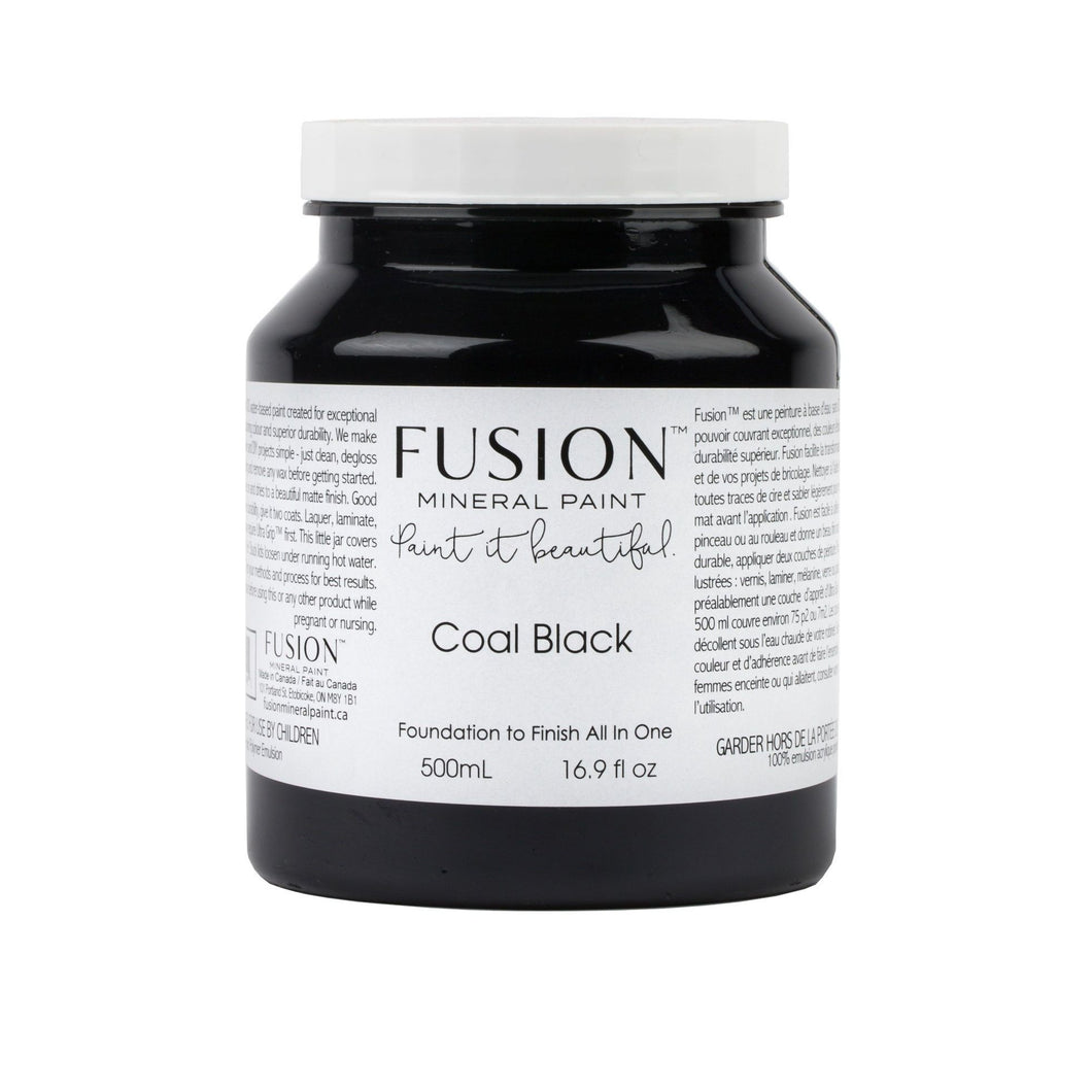 Coal Black Fusion Mineral Paint - La Di Da Interiors
