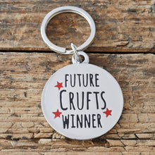 "Load image into Gallery viewer, ""Future Crufts Winner"" Dog Collar Tag - La Di Da Interiors"