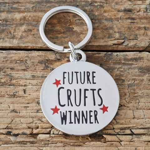 """Future Crufts Winner"" Dog Collar Tag"