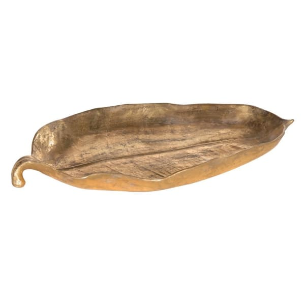 Gold Leaf Shaped Dish - La Di Da Interiors