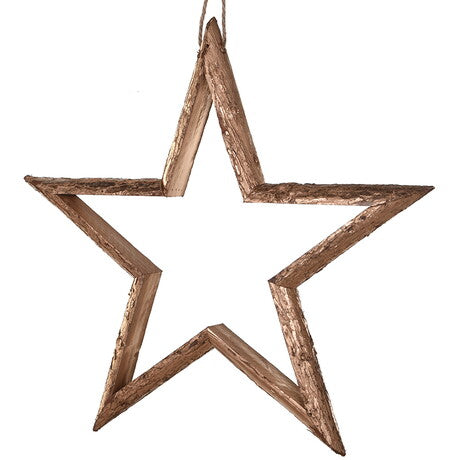 Gold Hanging Wooden Star