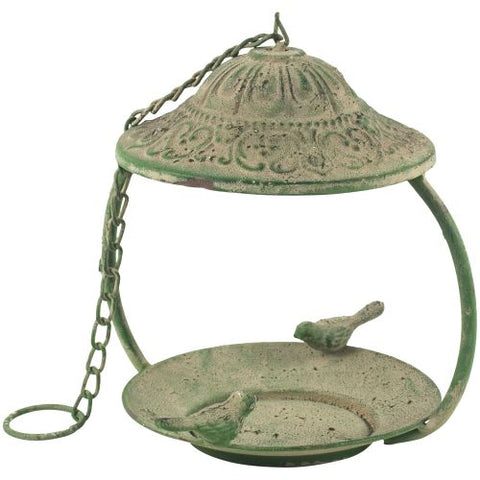 Green Metal Bird Feeder