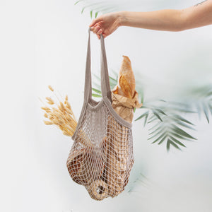 Grey String Eco Shopping Bag - La Di Da Interiors