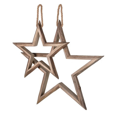 Hanging Wooden Stars