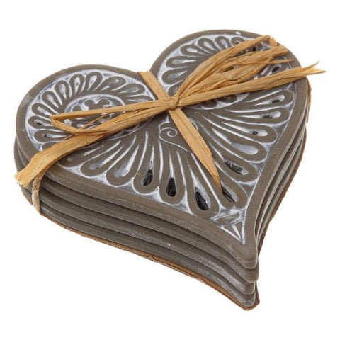 Heart Shaped Ceramic Coasters