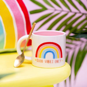 Rainbow Mug - Good vibes only