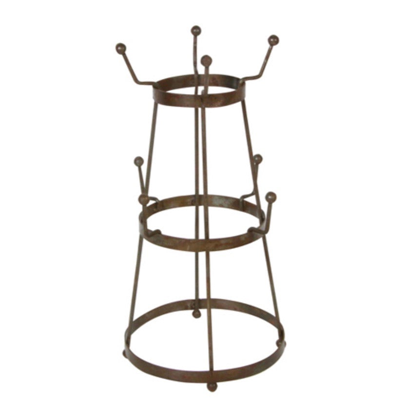 Mug Tree in Brown Metal - La Di Da Interiors