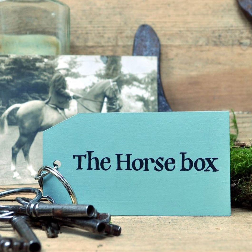 The Horsebox Wooden Painted Keyring