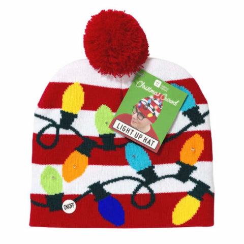 Flashing Light up Christmas Hat