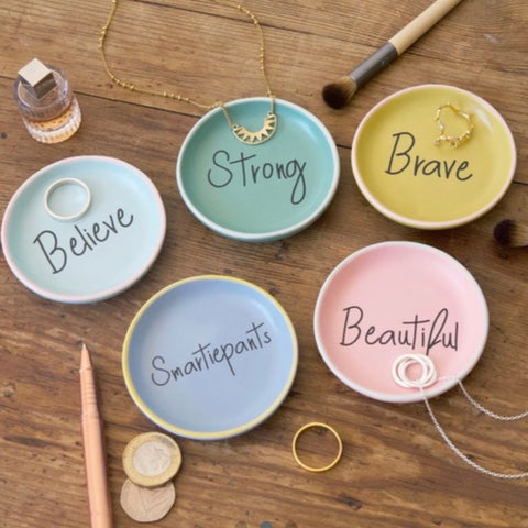 Trinket Ring Dish - Strong, Beautiful, Brave, Smartiepants