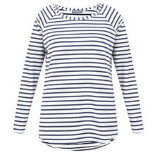 Charger l'image dans la galerie, Tasha Stripe Top in Navy and White