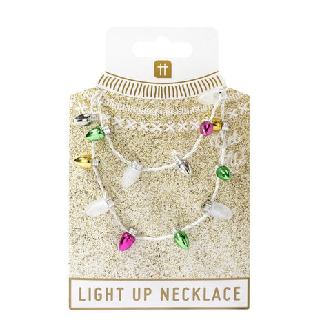 Light up flashing Christmas necklace