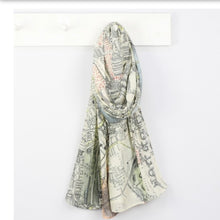 Charger l'image dans la galerie, London Vintage Map Scarf