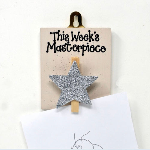 this weeks masterpiece peg with glittery star