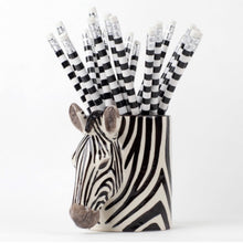Load image into Gallery viewer, Zebra Pencil Pot