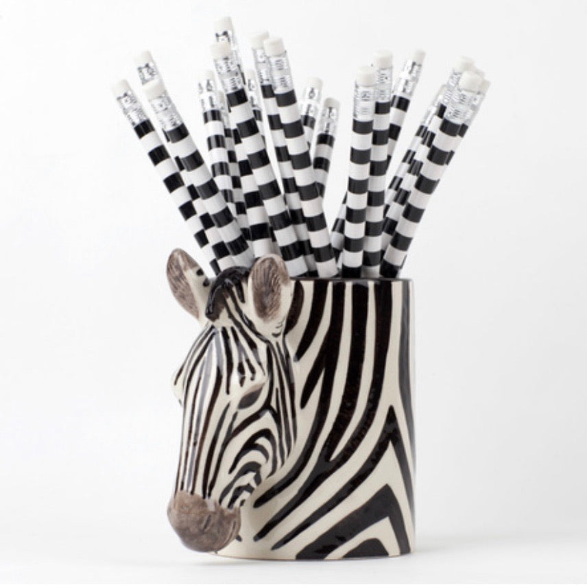 Zebra Pencil Pot