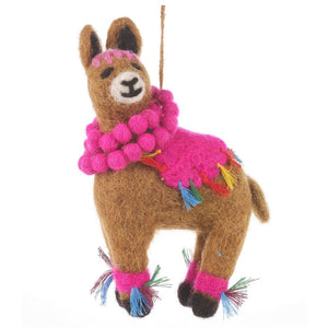 Larry the Llama Felt Tree Decoration
