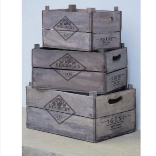 Hendricks Gin Wooden Crates - La Di Da Interiors