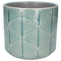 Wavy Ceramic Pot Large Blue - La Di Da Interiors