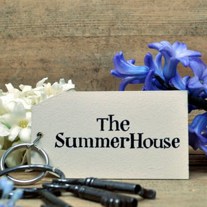 The Summer House Wooden Painted Keyring