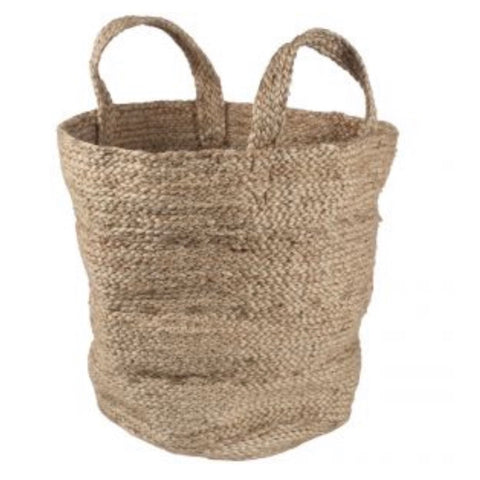 large jute basket storage