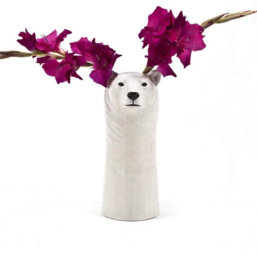 Polar bear flower vase by Quail Ceramic - La Di Da Interiors