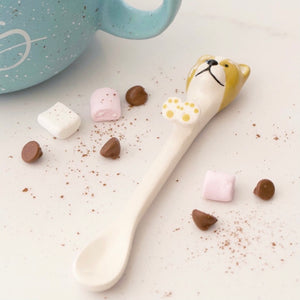 Dog Ceramic Spoon