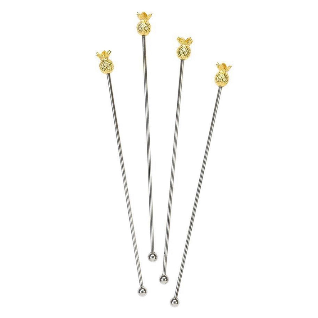 Gold Pineapple drinks stirrers - La Di Da Interiors
