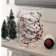 Load image into Gallery viewer, red berry string lights in a jar