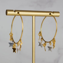 Charger l'image dans la galerie, star hoop earrings