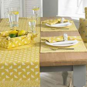 Bumble Bee Yellow Cotton Table Runner