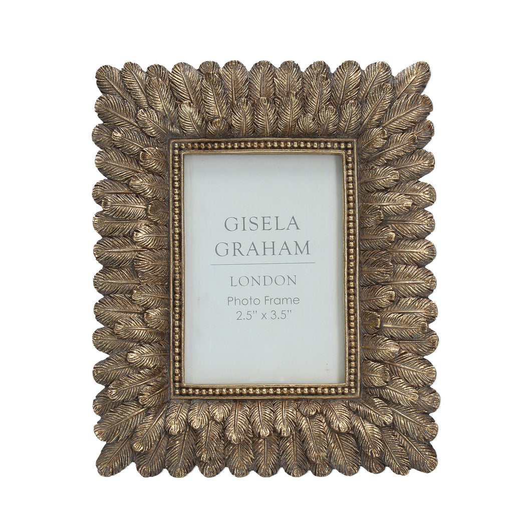 Gold Feathers Photo Frame