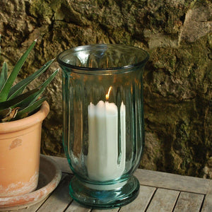 Contemporary glass hurricane lantern - La Di Da Interiors