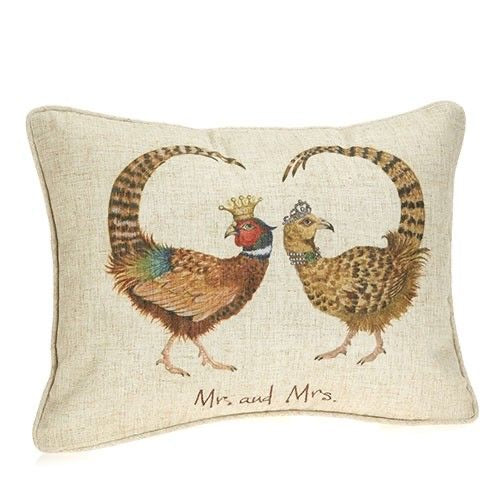 Mr & Mrs Pheasant Cushion