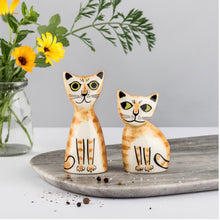 Load image into Gallery viewer, Ginger Cats Salt & Pepper Shakers