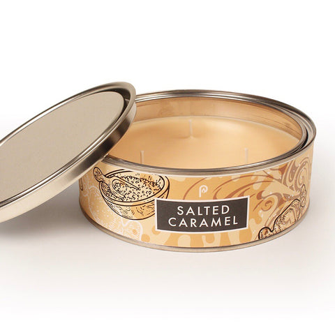 Salted Caramel Triple Wick Scented Candle Tin