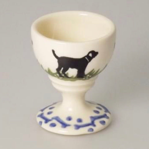 Black Labrador Egg Cup by Brixton Pottery - La Di Da Interiors
