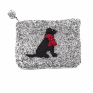 Black Labrador Felt Purse - La Di Da Interiors