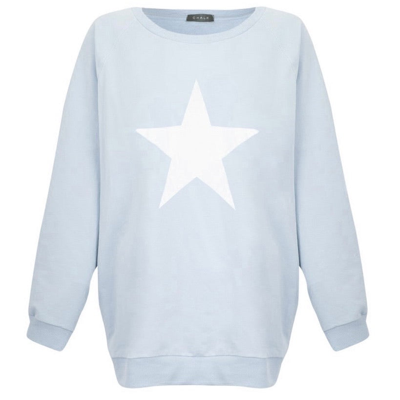 Nancy Star Print Oversized Sweatshirt
