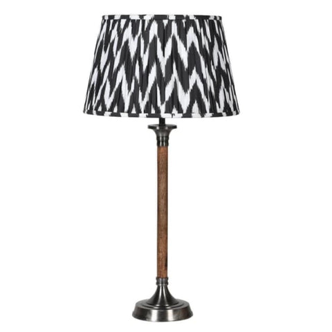 Black and white pleated table lamp