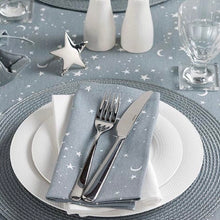 Load image into Gallery viewer, Twilight Grey & White Stars Table Runner