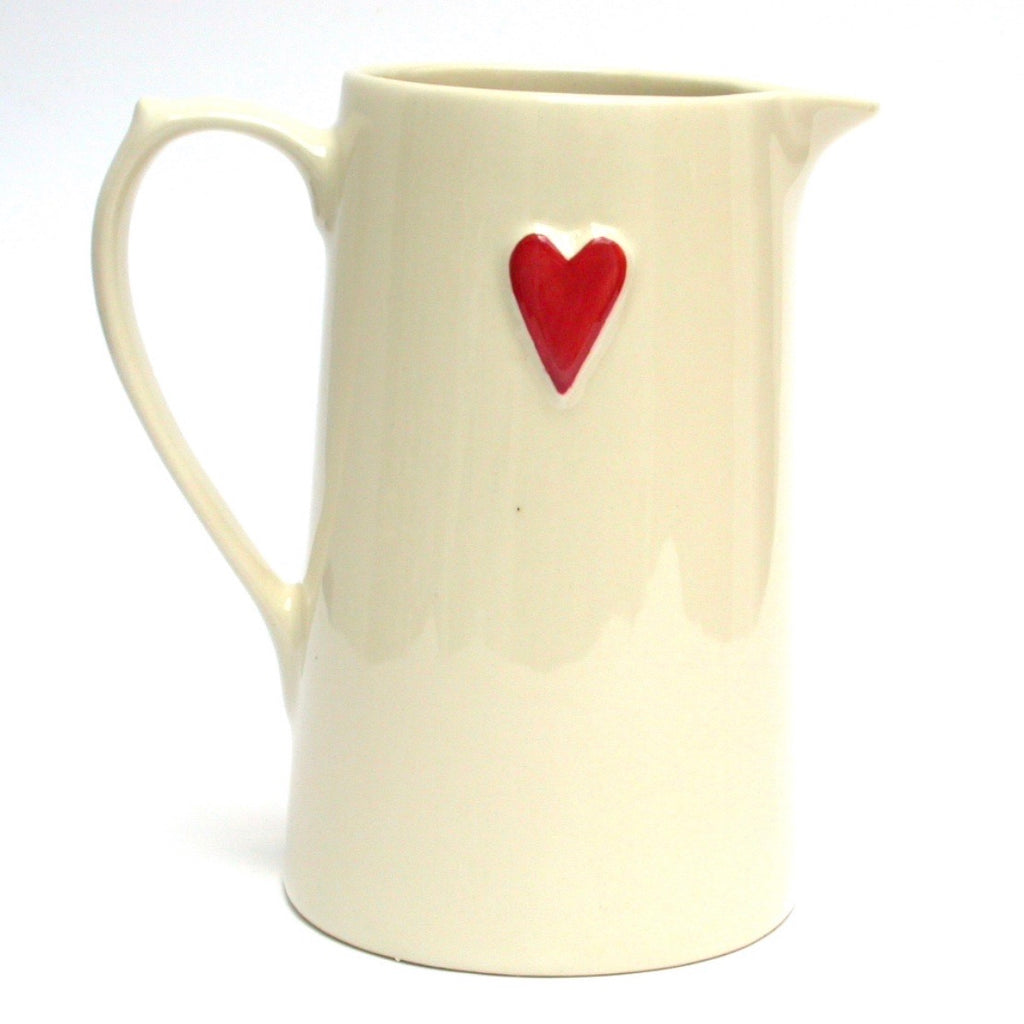 Red Heart Jug - La Di Da Interiors