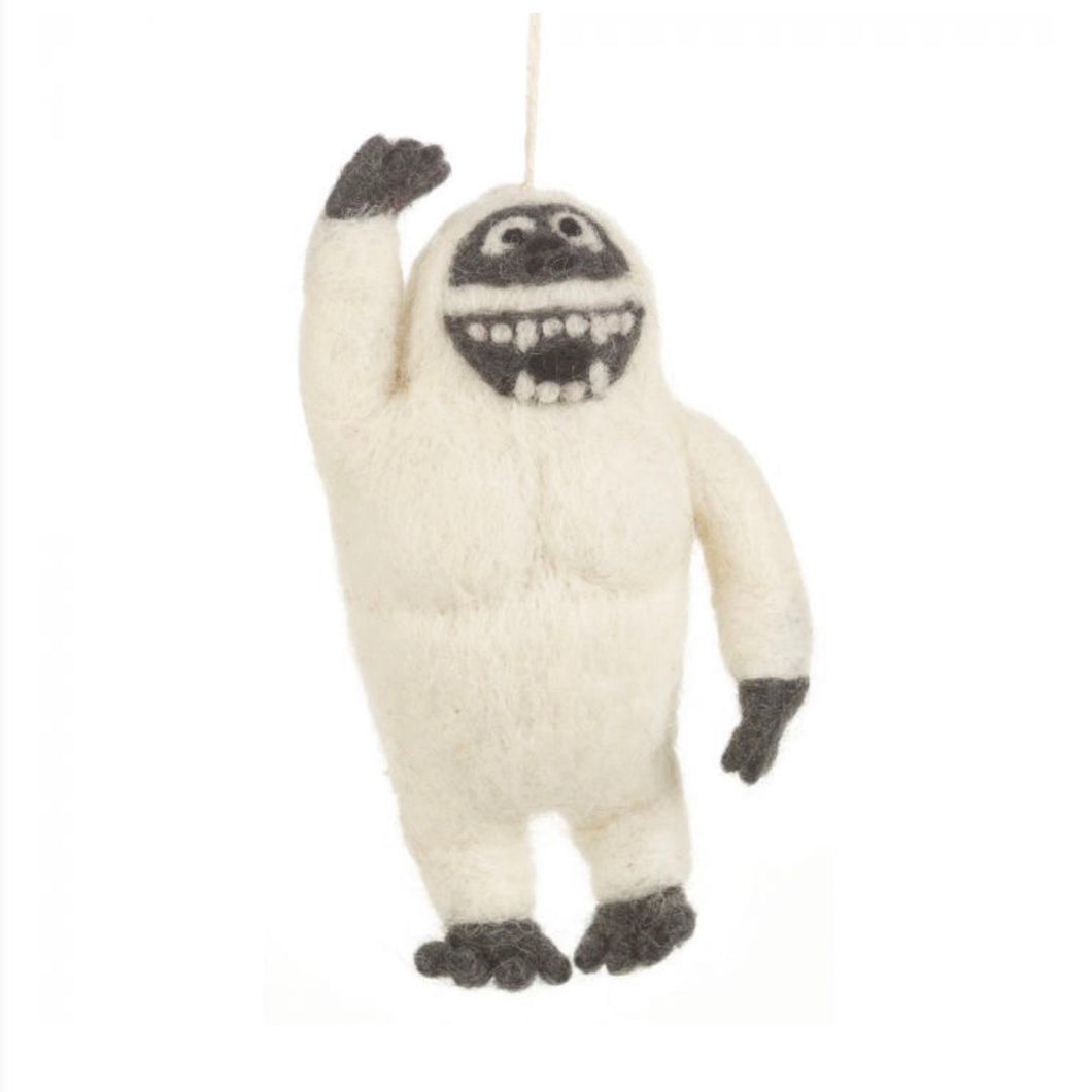 yeti christmas decoration