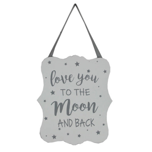 'Love you to the moon & back'  sign - La Di Da Interiors