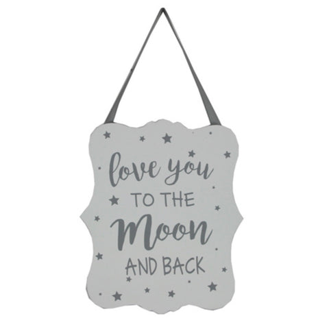 'Love you to the moon & back'  sign