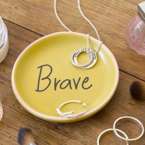 Trinket Ring Dish - Strong, Beautiful, Brave, Smartiepants - La Di Da Interiors