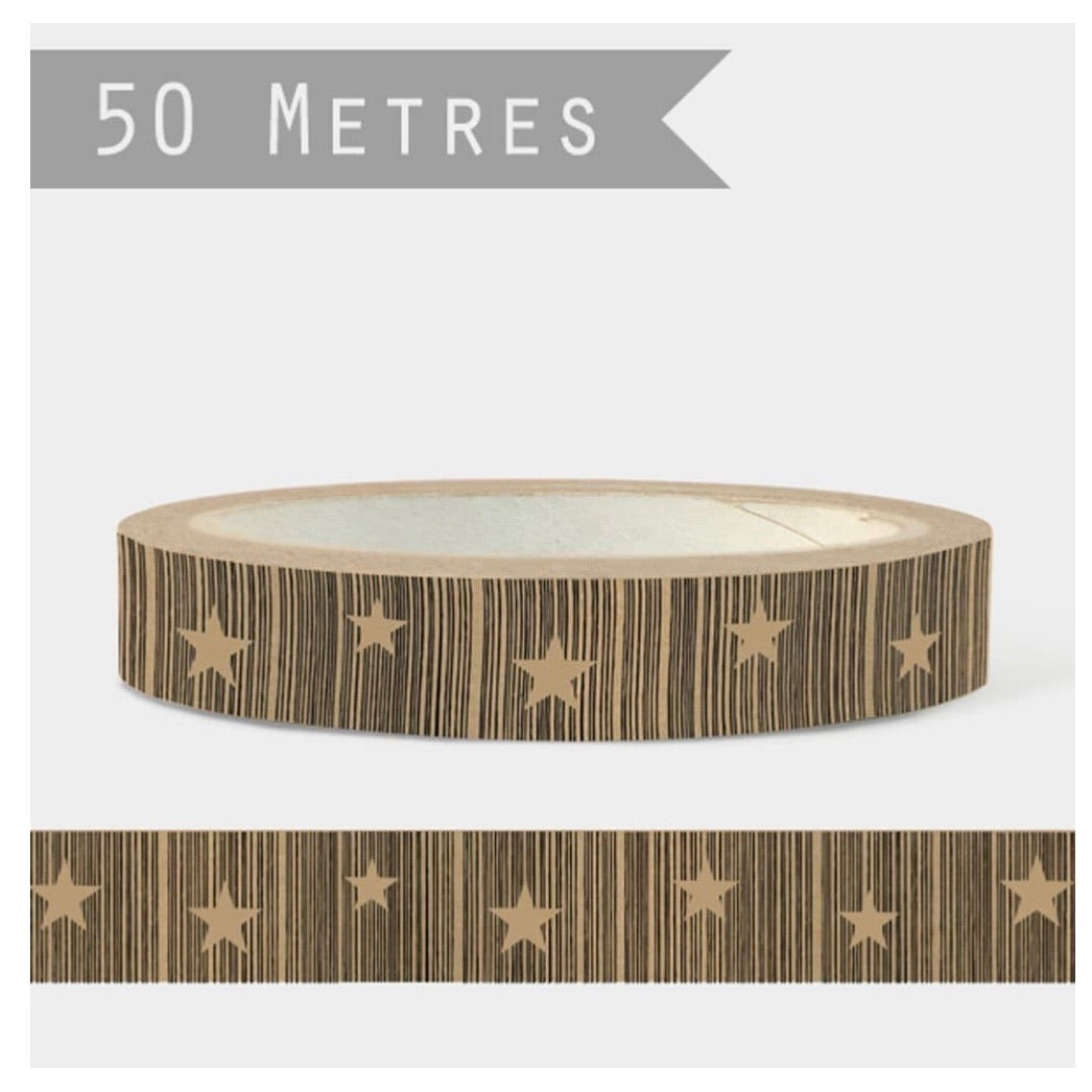 Stars Eco Paper Tape for Parcels